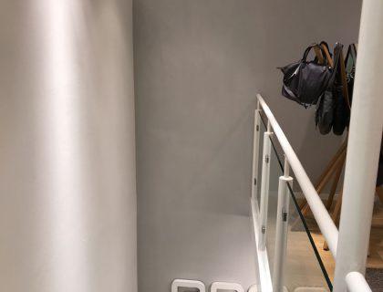 Malerarbeiten für Shops: Redesign für das Fachgeschäft BREE Taschen in Düsseldorf, moderne Betonoptik