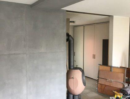 Betonoptik Schalungsfugen Moderne Wand Wandgestaltung Reichenbach Maler 01