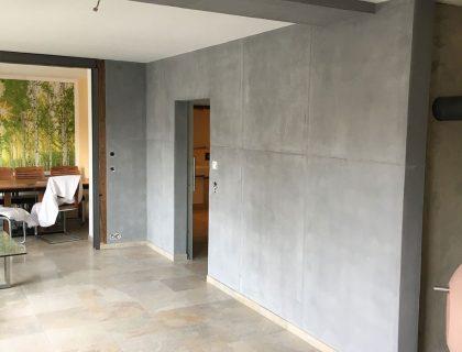 Betonoptik Schalungsfugen Moderne Wand Wandgestaltung Reichenbach Maler 02