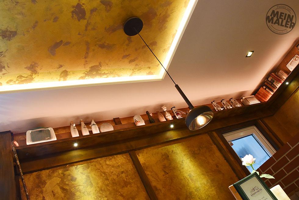 Rostoptik, LED Beleuchtung, Oberflächen in Antikmessing für
