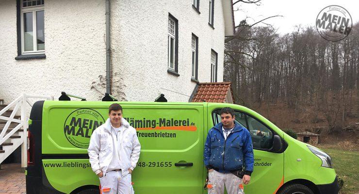 Lieblingsmaler Flaeming Malerei Treuenbrietzen hilft Raumausstattermeister Schwarz in Bad Malente 3