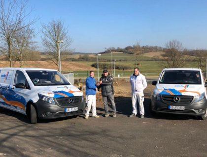 MeinMaler Sachs Malerfachbetrieb Lauterbach neue Fahrzeuge Uebergabe
