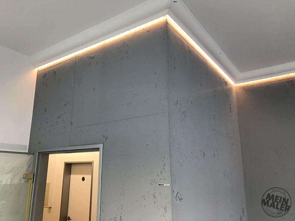 Sichtbeton Betonschalungsfuge Stuck NMC Homedecor Betonoptik LED Lichtdesign 03