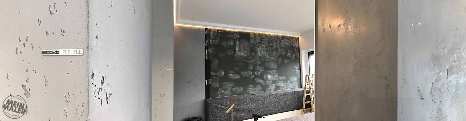 Sichtbeton Betonschalungsfuge Stuck NMC Homedecor Betonoptik Magnetwand Tafellack LED Lichdesign 09