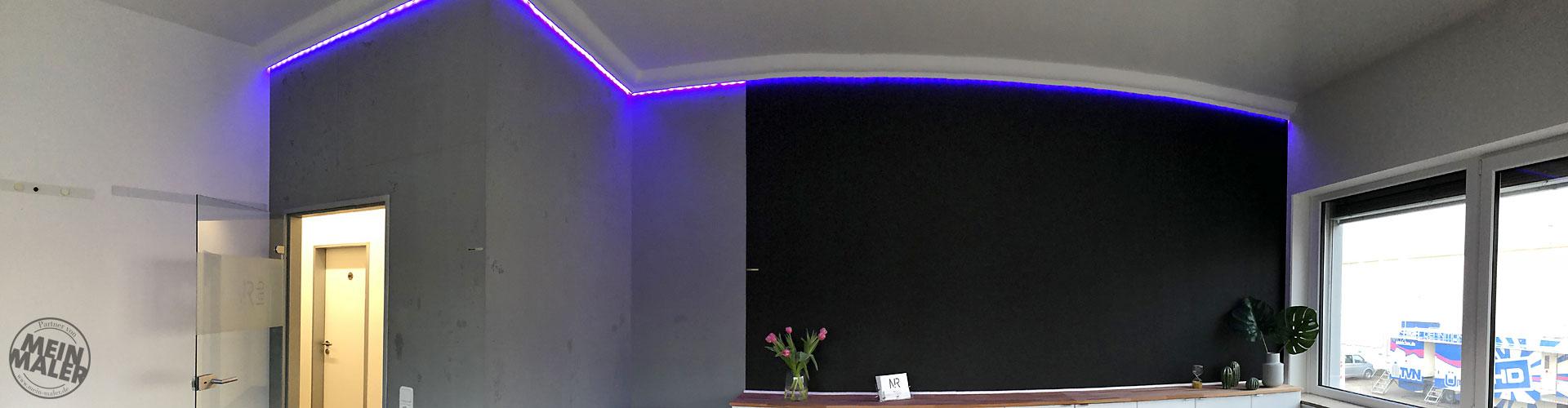 Gestaltung Mit Betonoptik Inkl Schalungsfuge Led Licht