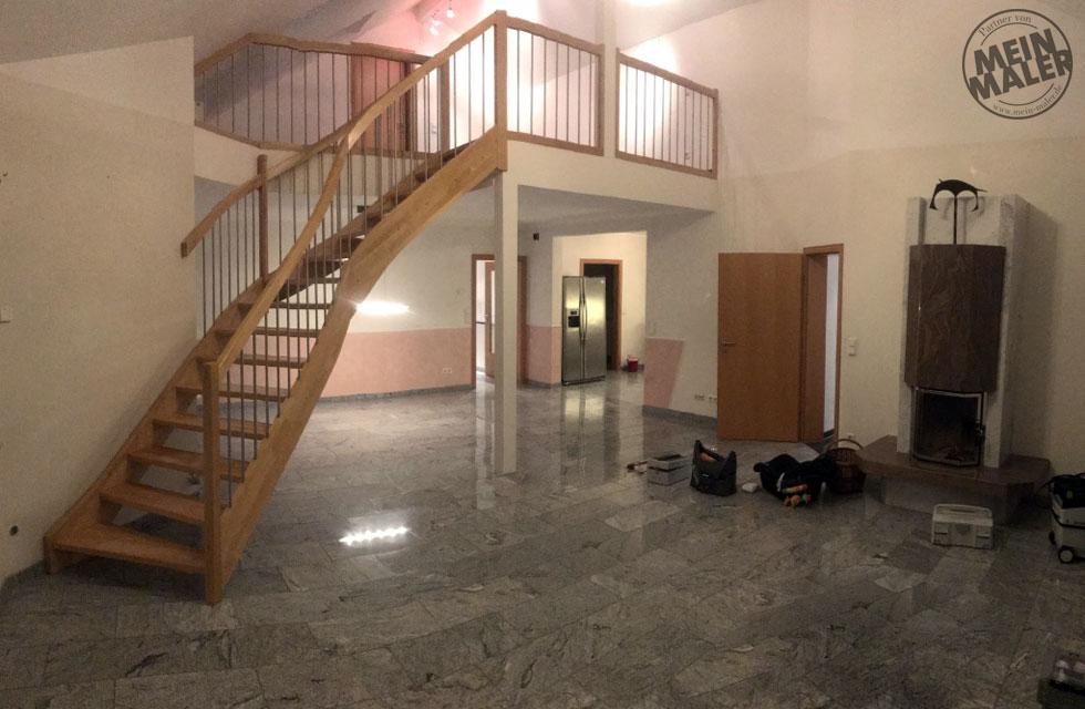 Treppe Vorher Lackierarbeiten Hannover