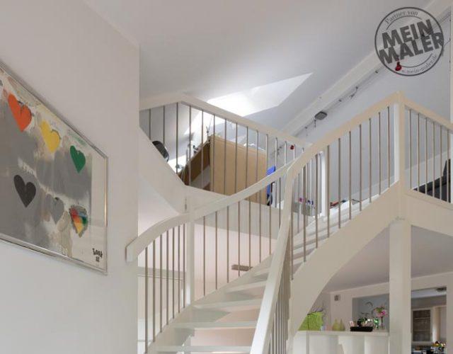 (Report) Malerarbeiten, Treppe Weiß Lackieren, Kamin In Betonoptik,  Fugenloser Fußboden In Hellem Grau, Türen Lackieren, Decke Und Wände  Streichen ...