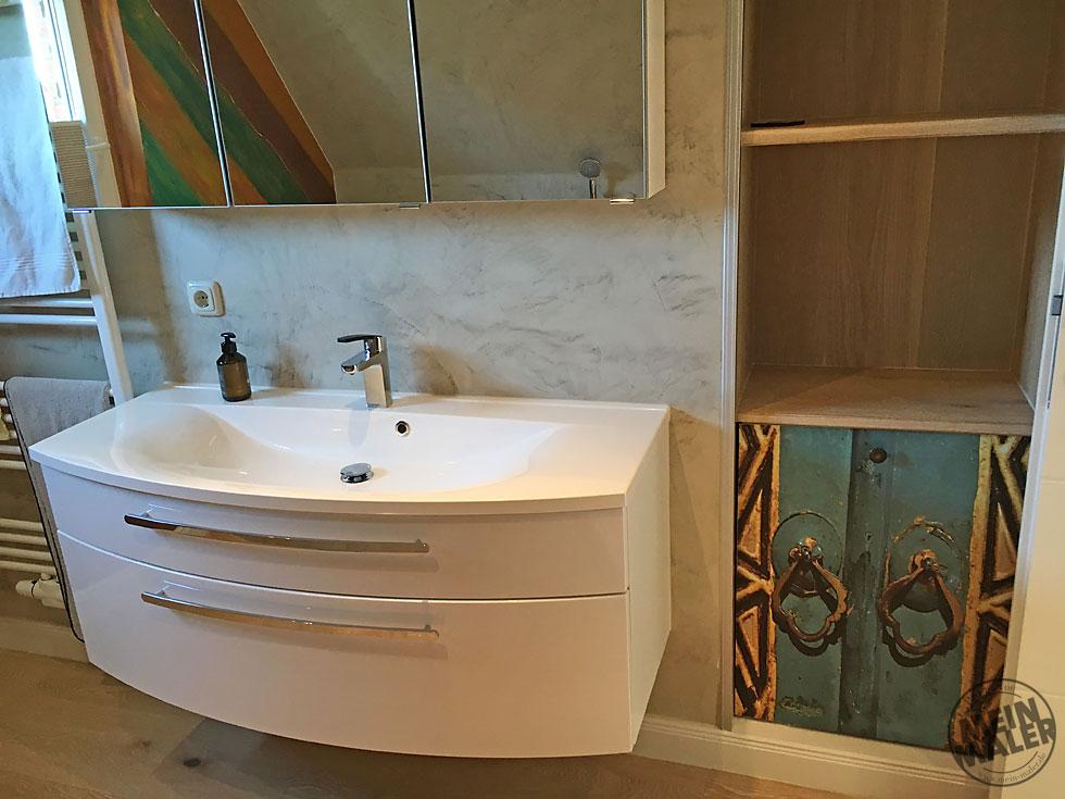 Märchenhaft Sanierung Eines Badezimmers Fugenlose Spachteltechnik