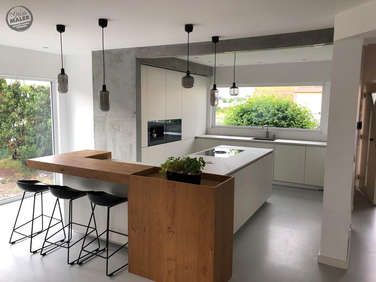 Loftcharakter für die Küche mit Betonoptik in Schwäbisch ...