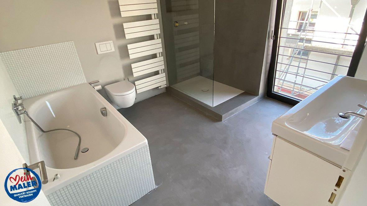 Badezimmer in Betonoptik Marmoroptik vom Lieblingsmaler in Braunschweig Fertig   MeinMaler ...