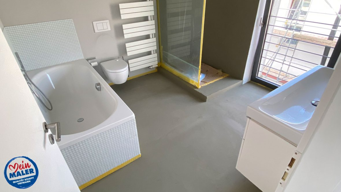 Badezimmer In Beton Marmoroptik Vom Lieblingsmaler In Braunschweig Meinmaler Partner Netzwerk