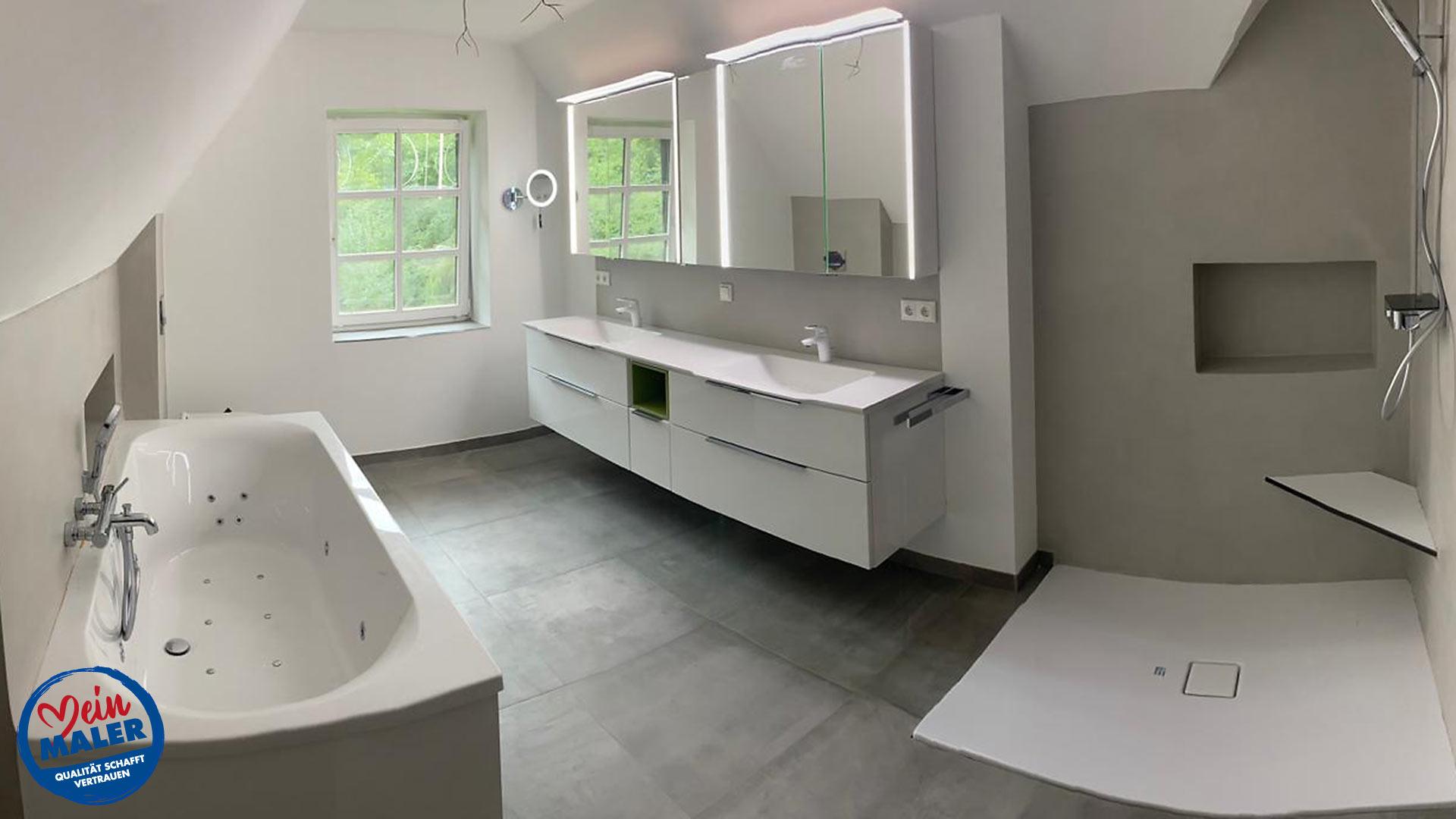 20 Jahre Zeitreise die Verwandlung in ein modernes fugenloses Bad ...